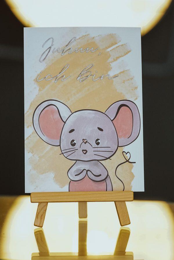Geburtstagskarte Maus