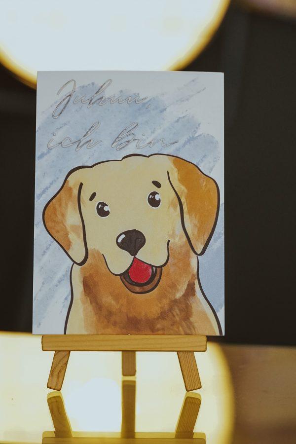 Geburtstagskarte Hund